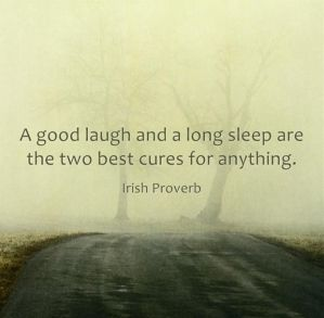 sleep and laugh